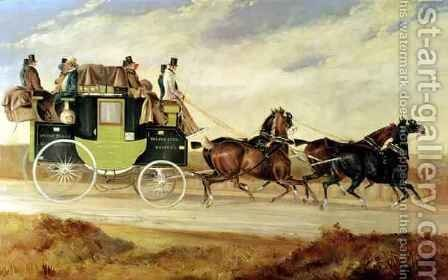 London to Bristol and Bath stage coach by Charles Cooper Henderson - Reproduction Oil Painting