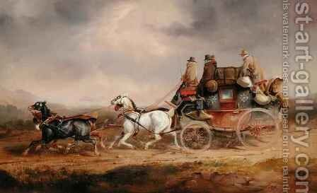 Mail Coaches on the Road The Louth London Royal Mail Progressing at Speed by Charles Cooper Henderson - Reproduction Oil Painting
