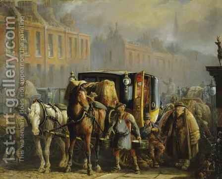 A London Cab by Charles Cooper Henderson - Reproduction Oil Painting