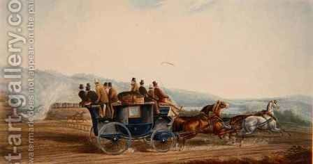The Road Versus Rail by Charles Cooper Henderson - Reproduction Oil Painting