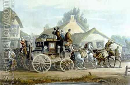 All Right from Fores Coaching Recollections by Charles Cooper Henderson - Reproduction Oil Painting