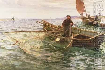 The Fisherman by Charles Napier Hemy - Reproduction Oil Painting
