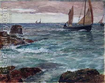 Homeward Bound by Charles Napier Hemy - Reproduction Oil Painting