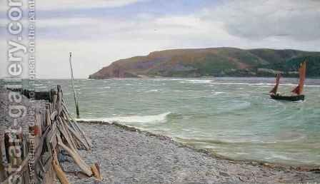 Porlock Bay by Charles Napier Hemy - Reproduction Oil Painting