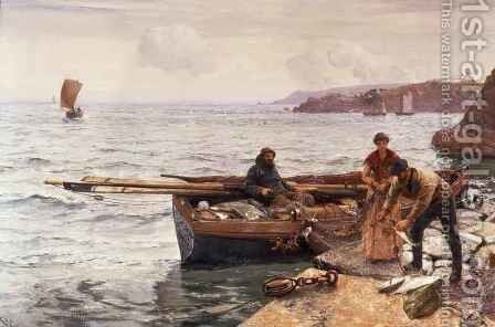 Crabbers Bait by Charles Napier Hemy - Reproduction Oil Painting