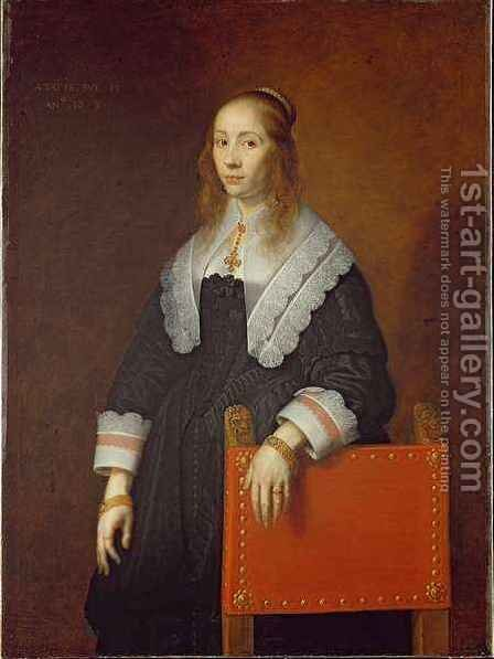 A Young Woman by Bartholomeus Van Der Helst - Reproduction Oil Painting