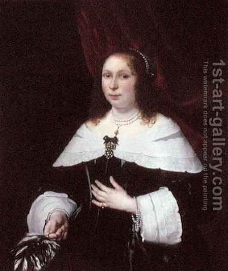 Lady in Black by Bartholomeus Van Der Helst - Reproduction Oil Painting