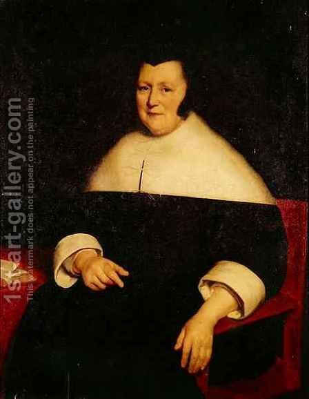 Portrait of an Elderly Woman by Bartholomeus Van Der Helst - Reproduction Oil Painting