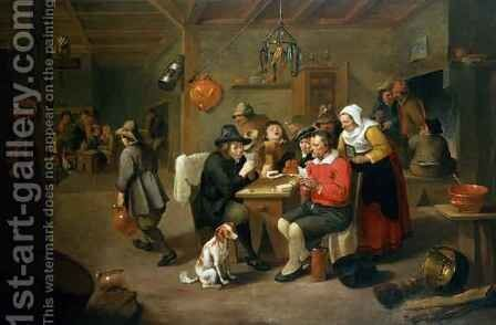 The Card Players by Matheus van Helmont - Reproduction Oil Painting