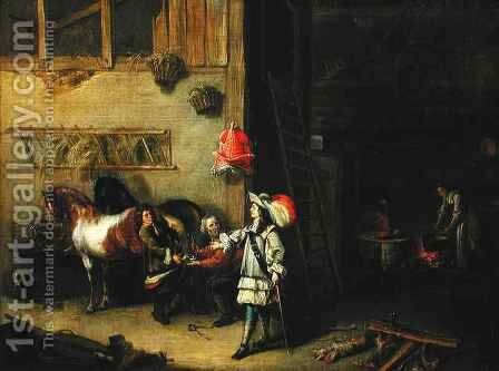 The Blacksmith by Matheus van Helmont - Reproduction Oil Painting