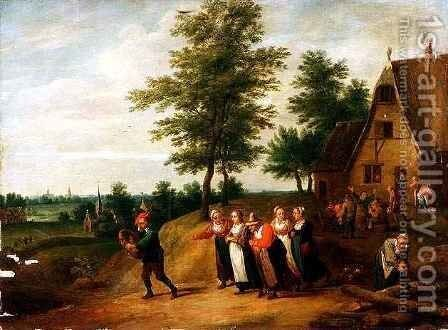 A Wedding March by Matheus van Helmont - Reproduction Oil Painting