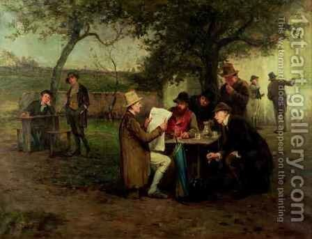 Reading the News The Proclamation of the Land League by Howard Helmick - Reproduction Oil Painting