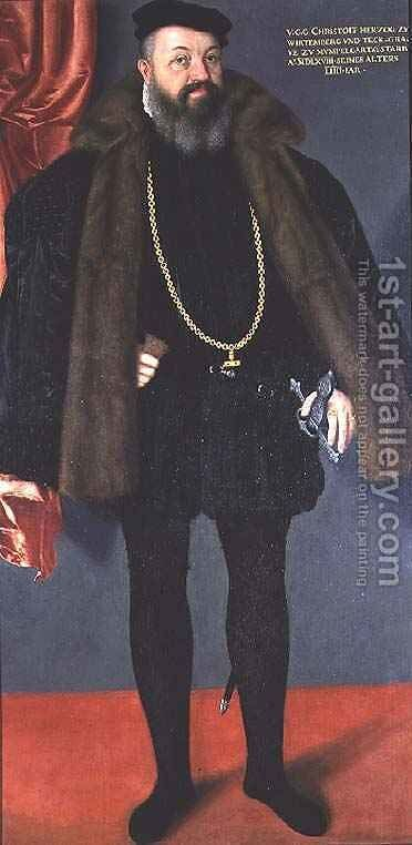 Christoph Duke of Wurttemberg 1515-68 son of Ulrich I of Wurttemberg in Spanish costume by Abraham de Hel - Reproduction Oil Painting