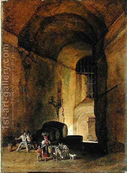 An Osteria by Carl Wilhelm von Heidick - Reproduction Oil Painting