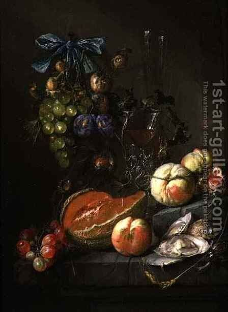Still Life of Fruit and Oysters by Cornelis De Heem - Reproduction Oil Painting