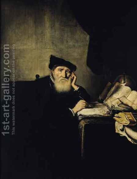 A Philosopher in his Study by Abraham van der Hecke - Reproduction Oil Painting