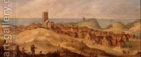 A View of Egmond Aan Zee by Claes Jacobsz. van der Heck - Reproduction Oil Painting