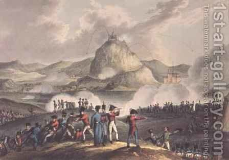 Siege of San Sebastian by (after) Heath, William - Reproduction Oil Painting