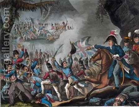 Battle of the Pyrenees by (after) Heath, William - Reproduction Oil Painting