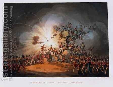 Storming of Ciudad Rodrigo 2 by (after) Heath, William - Reproduction Oil Painting