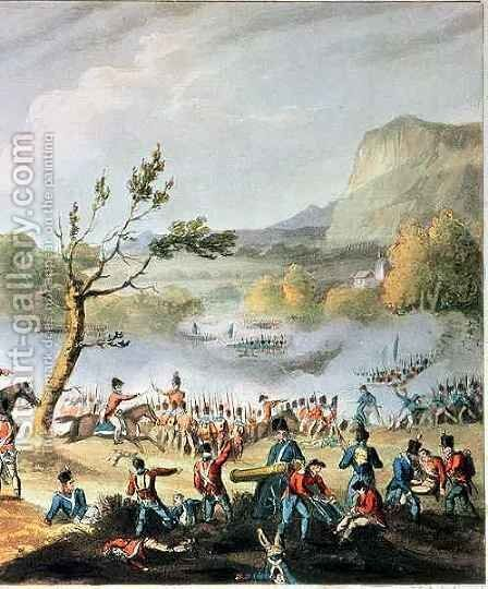 Battle of Maida by (after) Heath, William - Reproduction Oil Painting