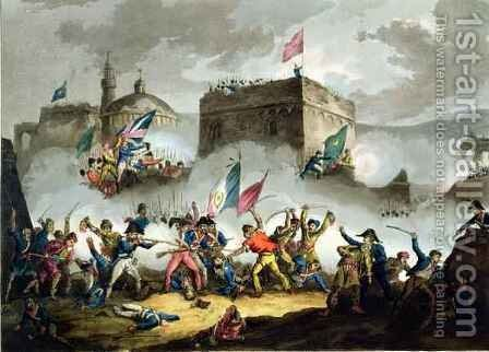 Defence of the breach at St Jean dAcre by (after) Heath, William - Reproduction Oil Painting