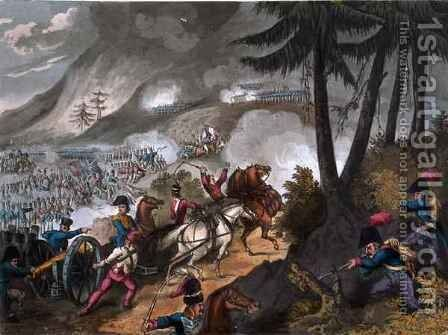 Battle of the Pyrenees in 1813 by (after) Heath, William - Reproduction Oil Painting