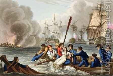 Anecdote at the Battle of Trafalgar by (after) Heath, William - Reproduction Oil Painting