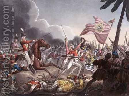 Battle of Assaye by (after) Heath, William - Reproduction Oil Painting