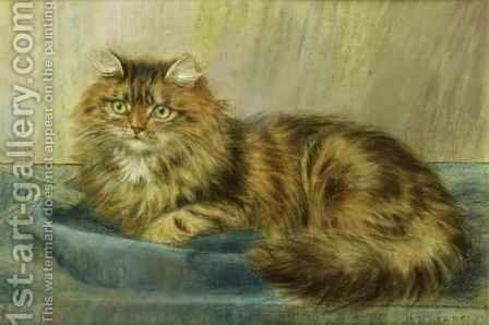 Persian Cat by Maud D. Heaps - Reproduction Oil Painting