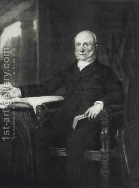 John Quincy Adams 6th President of the United States of America by (after) Healy, George Peter Alexander - Reproduction Oil Painting