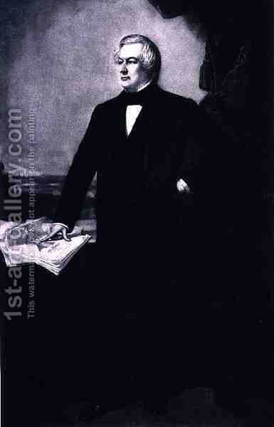 Millard Fillmore 13th President of the United States of America by (after) Healy, George Peter Alexander - Reproduction Oil Painting