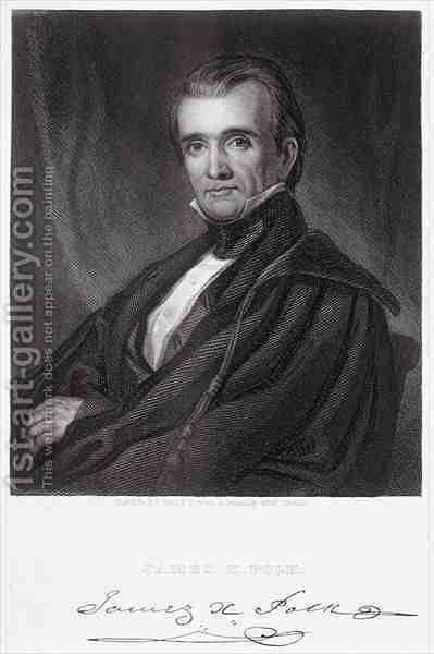 James Knox Polk by (after) Healy, George Peter Alexander - Reproduction Oil Painting