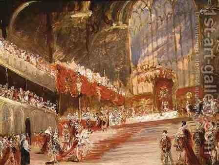 The Coronation of King George IV 1762-1830 by Sir George Hayter - Reproduction Oil Painting
