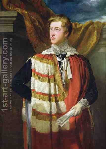 Portrait of William Spencer Cavendish by Sir George Hayter - Reproduction Oil Painting