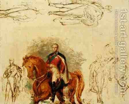 Studies for the Duke of Wellington 1769-1852 by Sir George Hayter - Reproduction Oil Painting