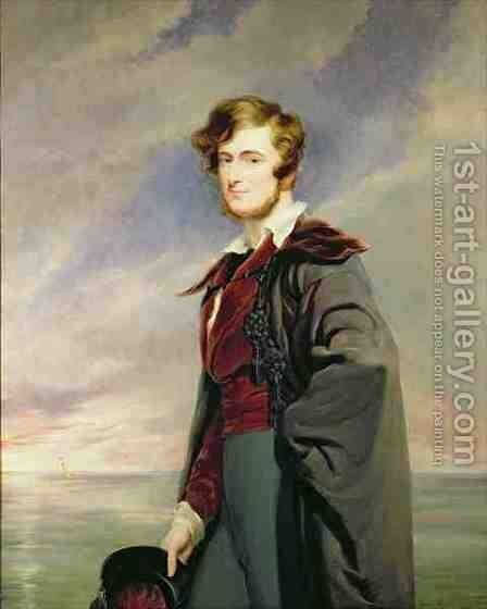 William 1809-66 2nd Earl of Craven by Sir George Hayter - Reproduction Oil Painting