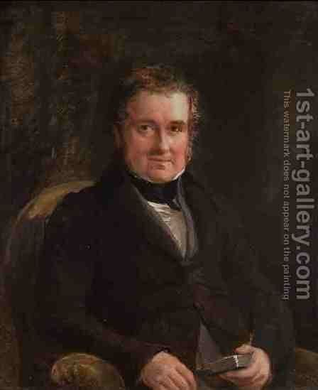 Lewis Weston Dillwyn by Sir George Hayter - Reproduction Oil Painting