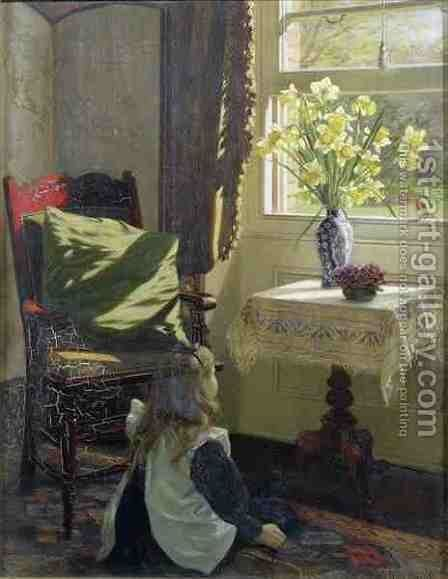 There Came to My Window or The Robin by Jessica Hayllar - Reproduction Oil Painting