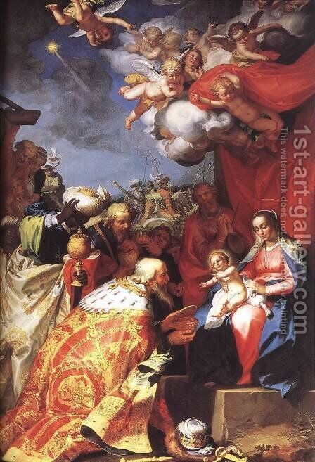 Adoration of the Magi by Abraham Bloemaert - Reproduction Oil Painting