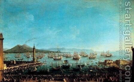 Arrival of Charles III in Naples by Antonio Joli - Reproduction Oil Painting
