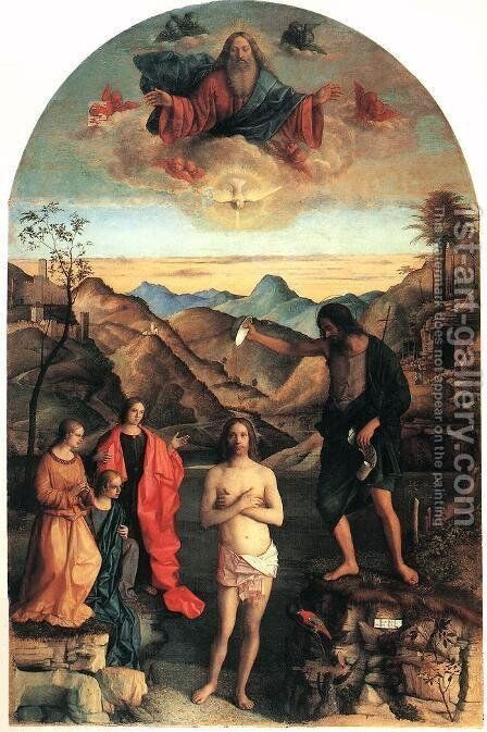 Baptism of Christ by Giovanni Bellini - Reproduction Oil Painting