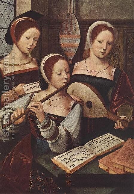Concert of Women by - Unknown Painter - Reproduction Oil Painting