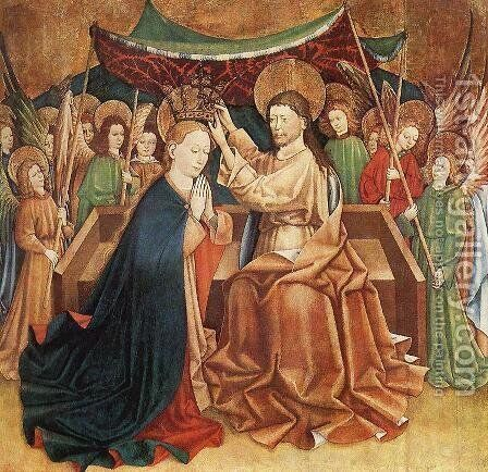 Coronation of Mary by - Unknown Painter - Reproduction Oil Painting
