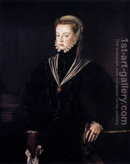 Dona Juana, Princess of Portugal by Alonso Sanchez Coello - Reproduction Oil Painting
