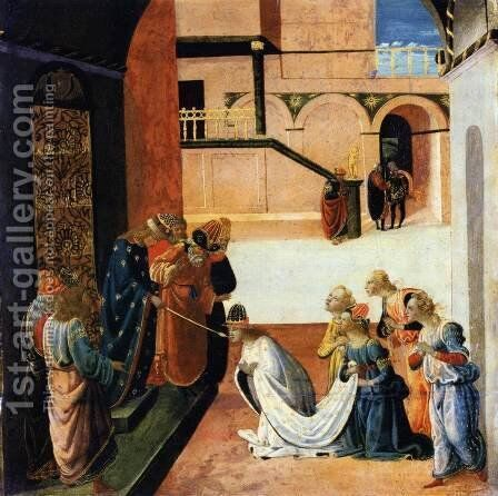 Esther before Ahasuerus by Jacopo Del Sellaio - Reproduction Oil Painting