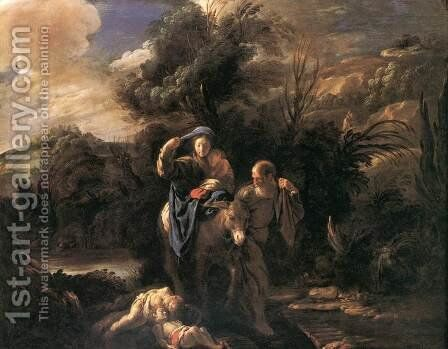 Flight to Egypt by Domenico Feti - Reproduction Oil Painting
