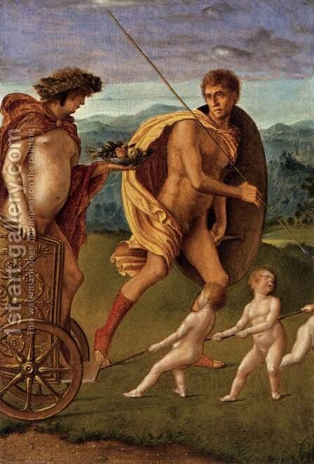 Four Allegories Perseverance and Fortune by Giovanni Bellini - Reproduction Oil Painting