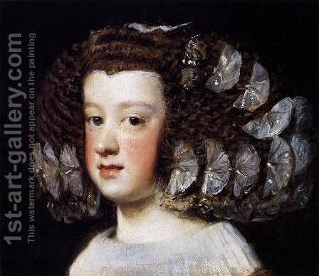 Infanta Maria Teresa 2 by Velazquez - Reproduction Oil Painting