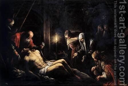 Lamentation over the Dead Christ by Jacopo Bassano (Jacopo da Ponte) - Reproduction Oil Painting
